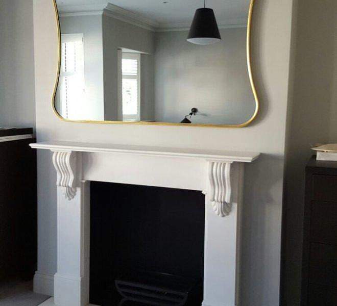 7 - Bespoke AD4 curvy mirror in gold