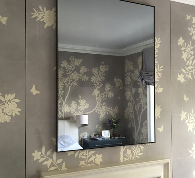 AD0 No67 Brass effect Smokus Mirror