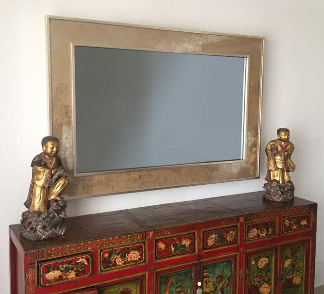 Eglomise-Border-TV-Mirror