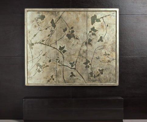Eglomise Ivy panel