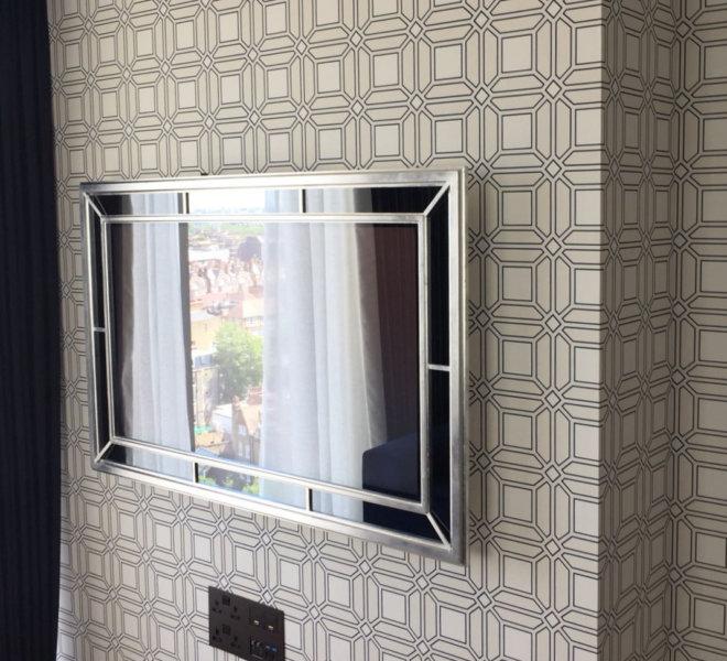 No43-Silver-on-Geometric-wallpaper