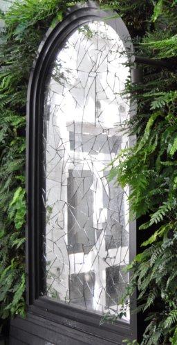cracked garden mirror right side