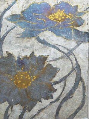 eglomise flower panel