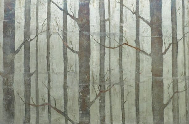 eglomise silver birch design