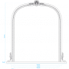 Decorative Archtop Mirror