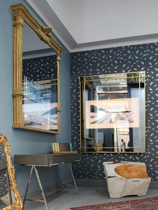 gold frame antique mirror