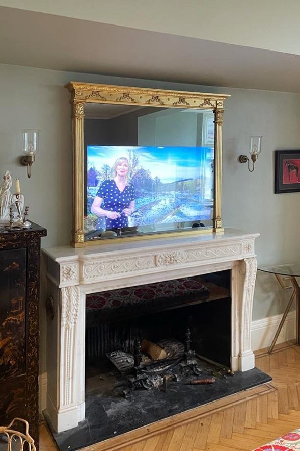 2021 No21TV Neo Classical TV Mirror ON