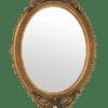 Decorative Cartouche Oval Mirror